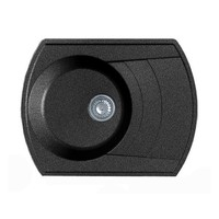 Мойка комп. GRANFEST Rondo GF-R650L (650х500) Черный 308 с крылом
