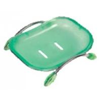 Мыльница пластиковая настольная зелен. HB333