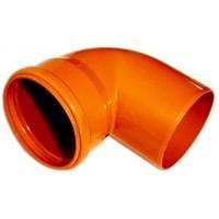 Колено 160*90 гр. оранжевое